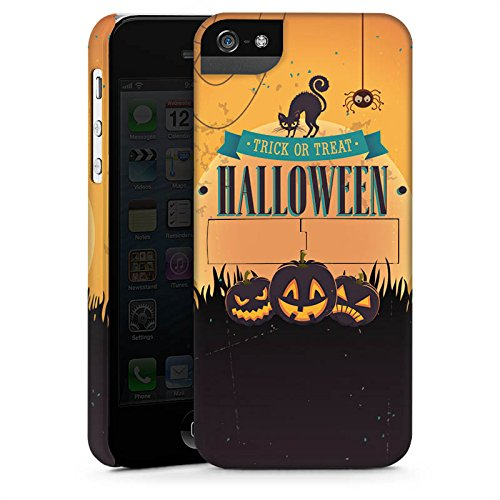Apple iPhone X Silikon Hülle Case Schutzhülle Halloween Kürbis Trick Or Treat Premium Case StandUp