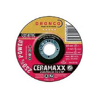 Dronco 3117561100Evolution AK 24V ceramaxx Schruppscheibe Metall, Edelstahl, 115mm Durchmesser x 7mm Dicke X 22,23mm loch Durchmesser, 13280U/min (10Stück)