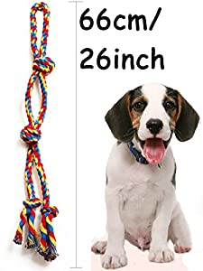 XL Dog Rope Toys for Strong Large Dogs,Dog Chew Toy 4 Knots Rope Tug for Aggressive Chewers, Interactive Rope Chew Toys to Large Dog Breeds (26inch 4Knot Rope) from Forwindog seller