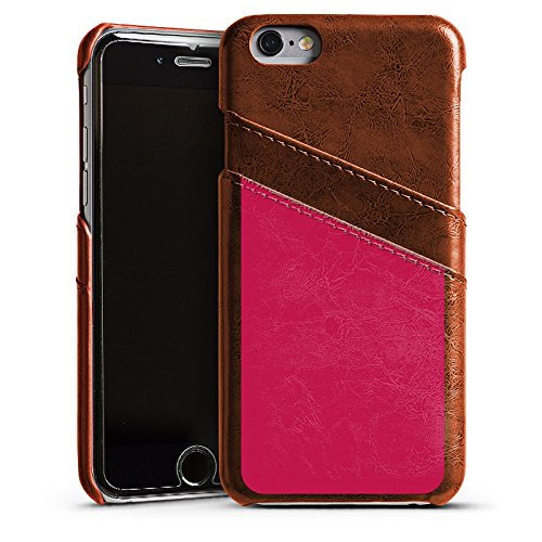Apple iPhone 6s Housse Outdoor Étui militaire Coque Bordeaux Rouge Rouge Étui en cuir marron