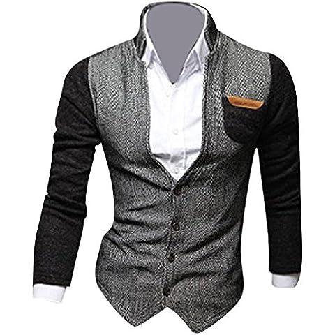 Jeansian Casual Uomo Inverno Moda Giacca Uomo Tendenza Cappotto Design Sottile Capispalla Blazer 9046