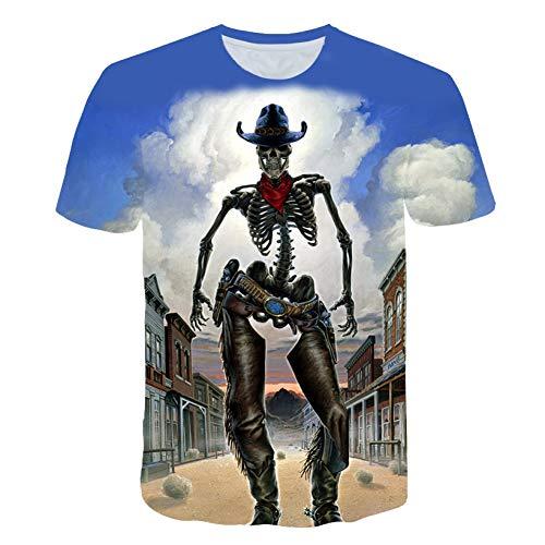 DUANXIUGE Happy Halloween T Shirts 3D Männer/Frauen T Shirt Allerheiligen Hallowmas Allerheiligen Shirt Jungen/Mädchen T-Shirt Tops