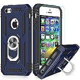 LeYi Coque iPhone 7 Plus/8 Plus,Coque iphone 6s Plus/6 Plus avec Anneau Support, Double Couche Renforcée TPU Silicone Antichoc Armure Etui avec Protection écran pour Apple iPhone 6+/6S+/7+/8+ Blue