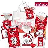 LIEBE Geschenktüte Präsentkorb Geschenkkorb Ich liebe Dich STEiNBECK Schokolade Fruchtgummi Tee Valentinstag Geschenk süß Mitgebsel 5 Teile Weihnachten