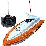 PowerLead F1 de alta velocidad RC barco de control remoto eléctrico de color naranja-barco (sólo funciona en el agua)