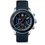 Ice-Watch - BMW Motorsport (steel) Dark & Light BE - Blaue Herrenuhr mit Lederarmband - Chrono - 001121 (Large)