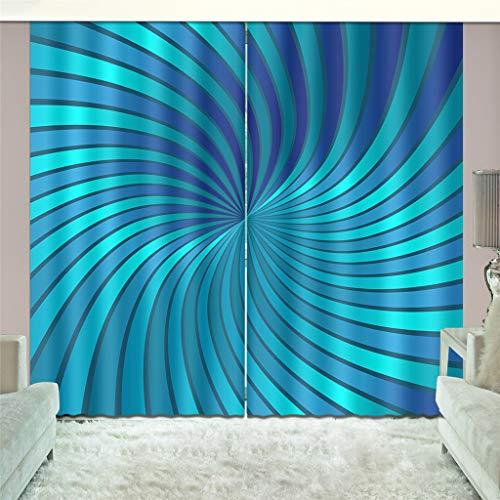 Lgxingliyidian tessuto di seta nera tende oscuranti moderna psichedelica creativa stampa artistica 3d stampa isolamento termico tende occhielli 150 (h) x130cm (w) x2