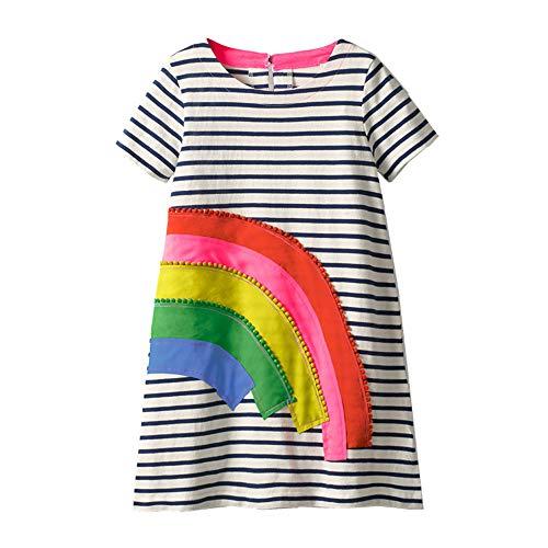 wolle Langarm Streifen Tiere T-Shirt Kleid EINWEG JM6167 3T ()
