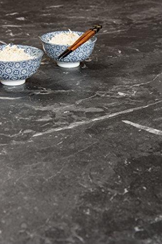 Schwarzer Marmor - Resopal Küchenarbeitsplatten (3m × 600mm × 38mm)