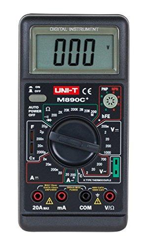 Uni-Ball T Multímetro Digital de medición de temperatura, negro, m890C