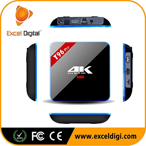 Pinwheel H96 PRO 4K Amlogic S912 Octa Core Android 6.0 TV Box 3GB RAM 16GB ROM Smart Box per Streaming TV Con I8 Tastiera Wireless Mouse