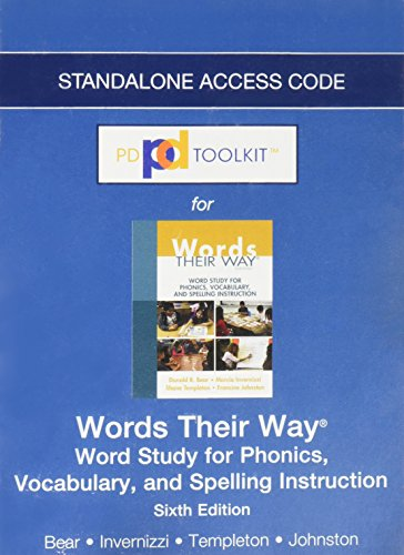 PDToolkit -- Standalone Access Card -- for Words Their Way: Word Study for Phonics, Vocabulary, and Spelling Instruction