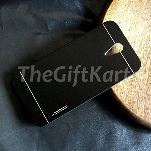 TheGiftKart Motomo Premium Brushed Metal Hard Back Case Cover for HTC Desire 620 Dual 620G Dual - Black