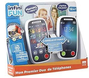 infinifun-Mon 1er Duo de teléfono Juguetes electrónicos, i18040, Sujetadores