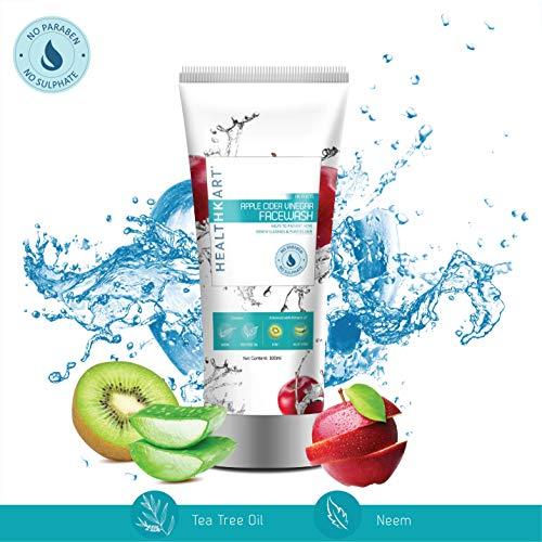 HealthKart Apple Cider Vinegar Face-wash - Anti acne - No Paraben & Sulphate- 100 ml