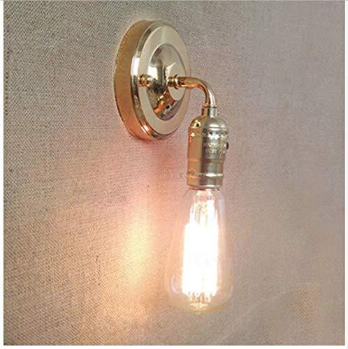 Loft lámpara de pared de hierro vintage con interruptores de pared interiores...