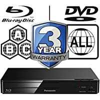 Panasonic DMP-BD84EB-K Smart ICOS Multi Region All Zone Code Free Blu-ray Player. Blu-ray zones A, B and C, DVD regions 1 - 8. YouTube, Netflix etc. HDMI output. HDD Playback