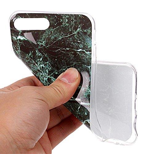 Cover per iPhone 8, CLTPY iPhone 7 Sottile Copertura in Silicone Morbido con Design Marmo Colorato Belle per Apple iPhone 7/8 + 1 x Stilo Libero - Gris Nero