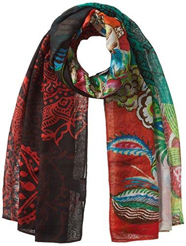 Desigual Damen Schal FOULARD_DONATELLA, Schwarz (Negro 2000), One Size (Herstellergröße: U)