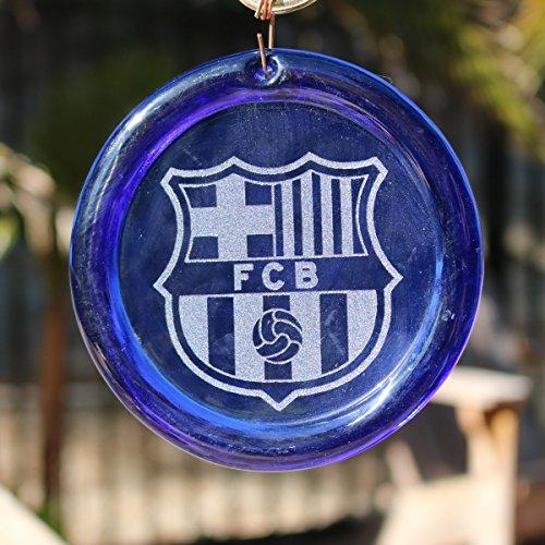 4-Zoll-geätzt Barcelona Suncatcher aus unserer Fußball Kollektion-Made in den USA. Ein großartiges Geschenk Für Jeden. Colorful Sonnenfänger bringen ein Zimmer oder View to Life. blau