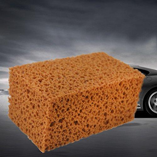 strapazierfähig super saugfähig Car Wash Honeycomb Schwamm Truck Waschen Reinigung Werkzeuge–1Stück braun