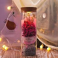 Preservar flores secas en cristal LED Wish Botella rígida flores mejor deseos Regalos para el día
