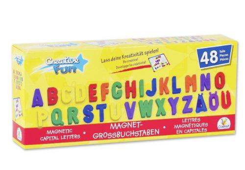 Creathek Magnet Großbuchstaben, 48-teilig (Abc-großbuchstaben Alphabet-magnete)