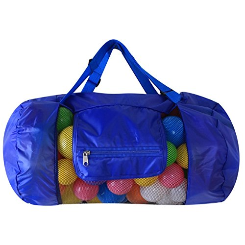 Jiuyizhe Extra große Netz-Strandtasche, Toy Organizer Tote, Faltbarer Rucksack Handtasche, 2 Designs (Spielzeug Nicht enthalten) (Color : Navy Blue-Handbag)
