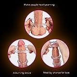 Anillo para el pene masculino - anillo para el pene con 3 bolsas de estimulación adicional para el pene - el mejor juguete sexual por su erección y duración