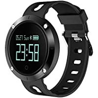 KXCD DM58 - Braccialetto fitness, funzione di monitoraggio della frequenza cardiaca, Bluetooth 4.0, touch screen OLED, monitoraggio del sonno, contapassi, compatibile con iPhone e smartphone Android