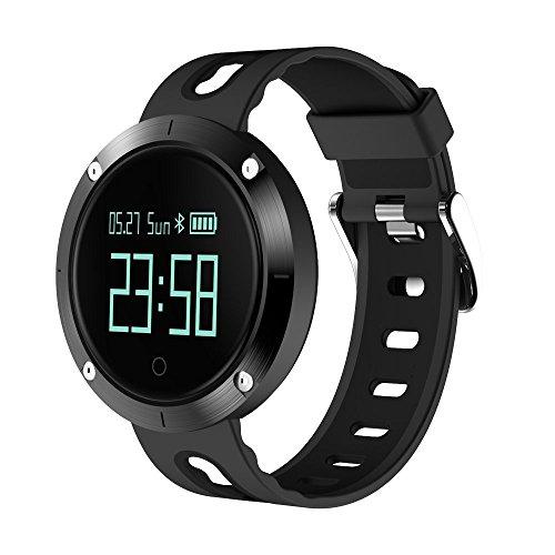 kxcd DM58Smart Armband Armbänder, Herzfrequenz Fitness Tracker BT 4.0OLED Touch Smart Band Schrittzähler mit Sleep Monitor, Activity Tracker Armbanduhr für iPhone Android Smartphone, schwarz/schwarz