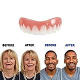 Dientes de sonrisa perfectos hermoso Diente de sonrisa instantánea Dientes cosméticos dentadura postiza cambio de imagen Tamaño pequeño carillas
