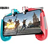 CQLEK® 2 in 1 Mobile Remote Controller Gamepad Holder Handle Joystick Triggers for PUBG L1 R1 Shoot Aim Button for iOS and Android