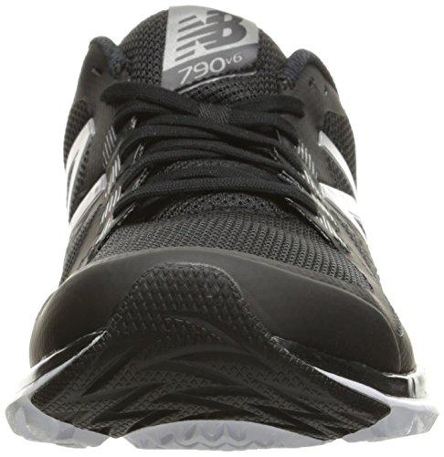 New Balance Men's 790v6 Speed Ride Running Shoe, Black/Silver, 10 4E US Multicolore (Black/Silver)