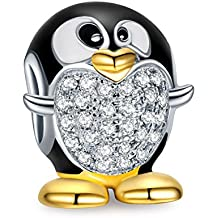 NinaQueen Pinguino Abalorio de mujer de plata