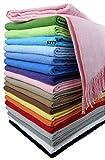 STTS International Baumwolldecke Wohndecke Kuscheldecke Tagesdecke 100% Baumwolle 130 x