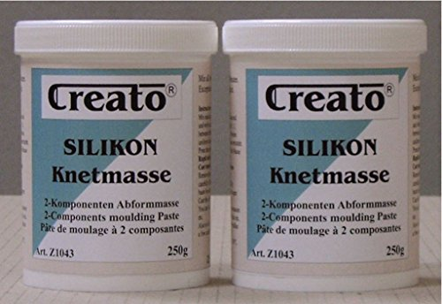 Silikon Knetmasse blau, 2-Komponenten Abformmasse 500 gr., A+B