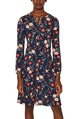 edc by ESPRIT Damen 089Cc1E016 Kleid, Blau (Navy 400), Small (Herstellergröße: S)