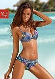 bruno banani Damen Push Up Bügel Bikini (34 (65) AA, Jeans-Optik)
