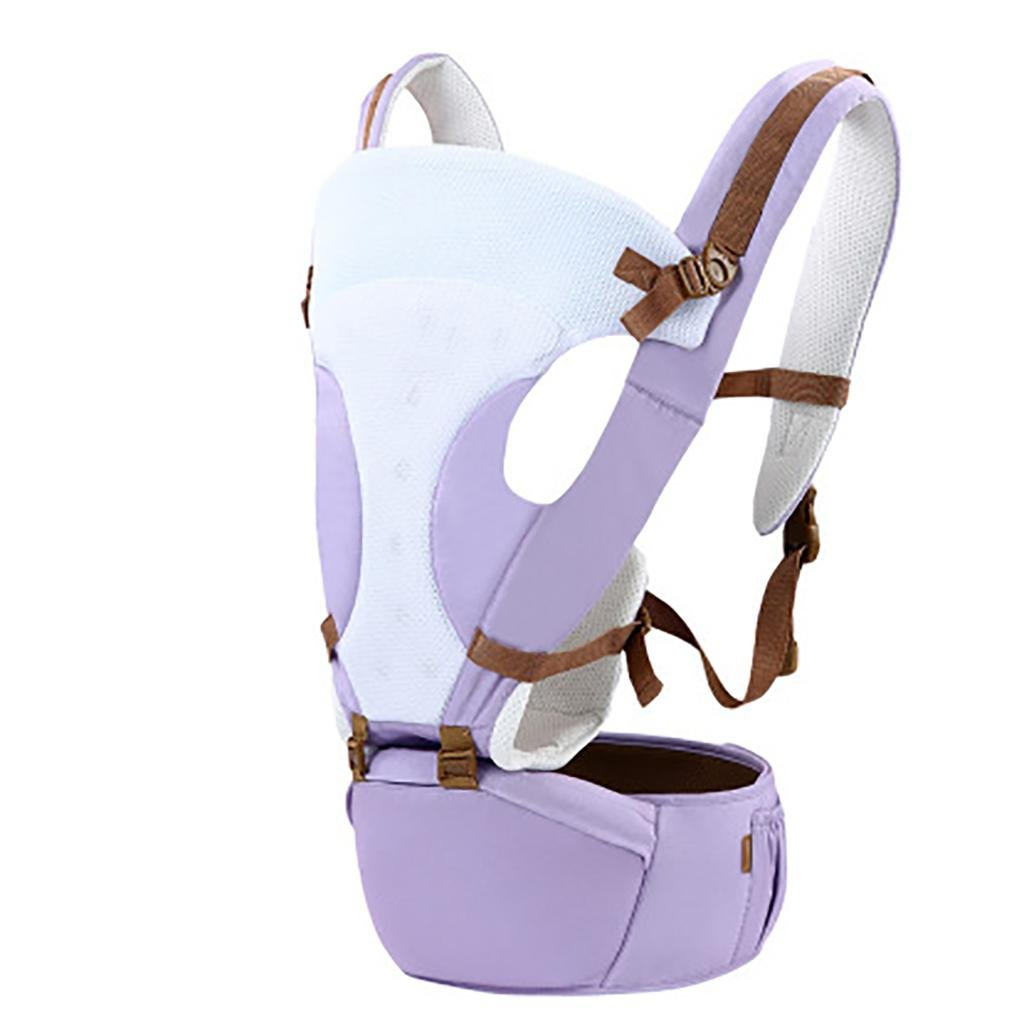 HMM-Baby Carrier con infantile Zaino bambino 2 in 1 per tutte le stagioni Luce e cassaforte , purple