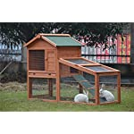 BUNNY BUSINESS Rabbit Hutch with Integrated Run and Enclosure, Rabbit Hutches Rabbit Runs 140 x 65 x 100 cm (COVER ONLY) 7