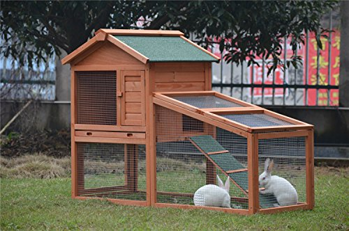 BUNNY BUSINESS Rabbit Hutch with Integrated Run and Enclosure, Rabbit Hutches Rabbit Runs 140 x 65 x 100 cm (COVER ONLY) 1