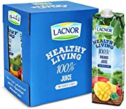 Lacnor Healthy Living Mango Juice  - 1 Litre (Pack of 6)