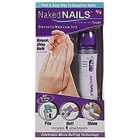 Prifix Finishing Touch Electronic Manicure and Pedicure Nail Brush Set Kit (Multicolour, 24 x 11.6 x 6.5 cm)