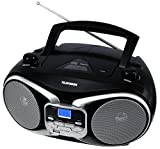 Telefunken RC1003M tragbarer MP3-CD-Player (MW-UKW-Radio, Aux-In, Batterie/Netzbetrieb)