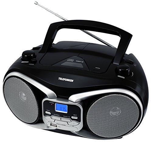 Telefunken RC1003M tragbarer MP3-CD-Player (MW-UKW-Radio, Aux-In, Batterie/Netzbetrieb)