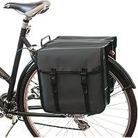 Beluko Classic Double–Bolsa para bicicleta, con doble Alforja, para mujeresypara hombre, bel-classic-grey