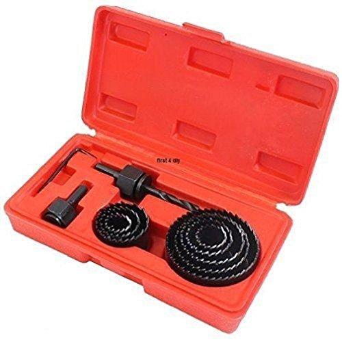Amtech 11 Pièce Trou Scie Set Kit 19-64 mm bois acier carbone Cutter Circulaire