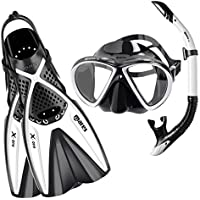 Mares X-One Marea - Set de Buceo, Color Blanco, Talla S-M