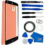 MMOBIEL Kit de Reemplazo de Pantalla Táctil para LG GOOGLE NEXUS 5 (Negro) incluye pantalla de Vidrio / cinta adhesiva de 2 mm / Kit de Herramientas / Limpiador de microfibra / alambre Metálico
